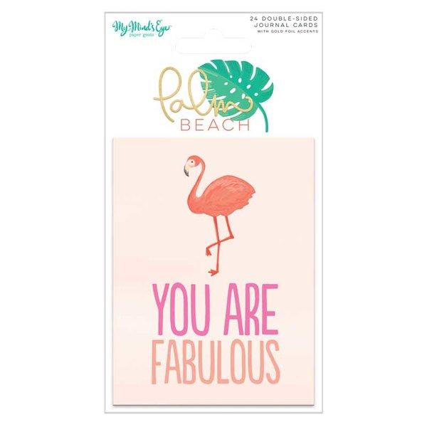 MyMindsEye Scrapbooking Journal Cards Palm Beach 24 Stück