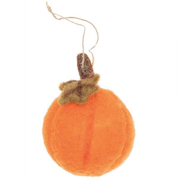Ohhh! Lovely! Filzhänger Kürbis orange 6x6x6cm