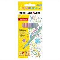 Eberhard Faber Glitter Fasermaler Pastell 8 Stück