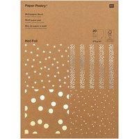 Paper Poetry Kraftpapier Block Punkte 270g/m² 20 Blatt Hot Foil