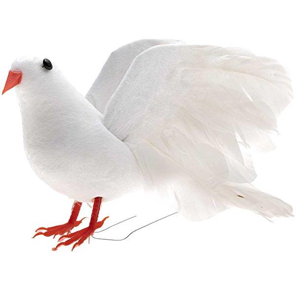 Taube weiß 14cm
