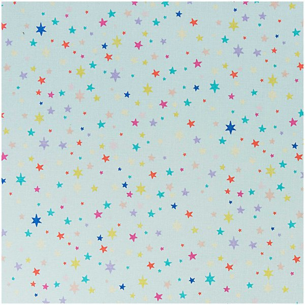 Rico Design Stoff Sterne mint-mehrfarbig 140cm