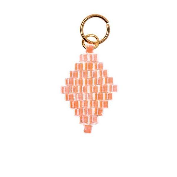 Mix it Up - Jewellery Brick Stitch Raute neon-orange 10x15mm