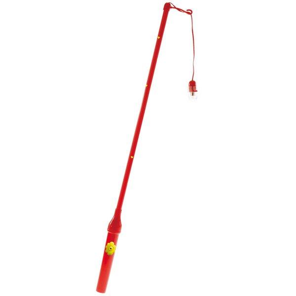 Laternenstab elektrisch mit Herzen rot 50cm