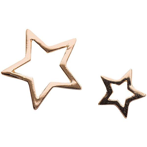 Jewellery Made by Me Anhänger Sterne gold 2 Stück