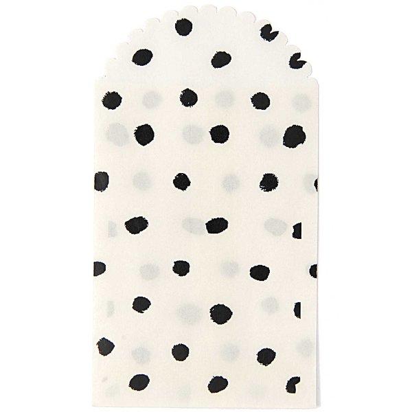 Paper Poetry Papiertüte schwarze Punkte 12,5x7cm 6 Stück