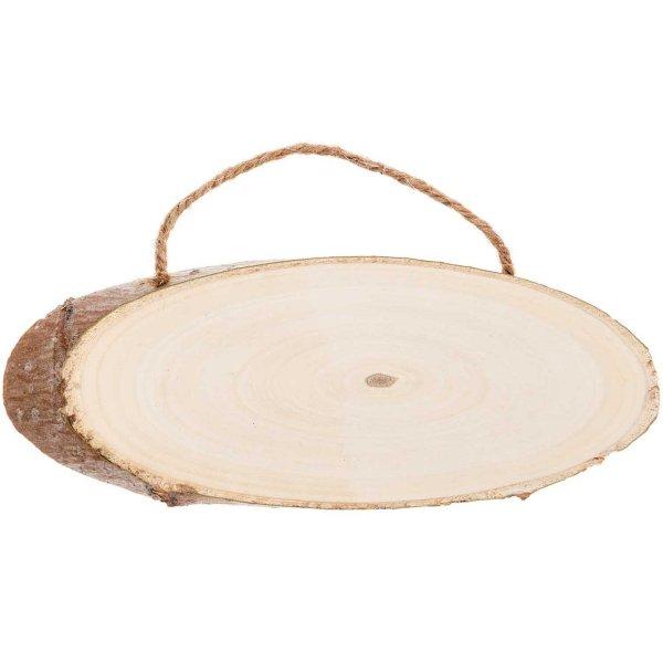 Rico Design Holzschild oval 14-18x7-10cm 1cm dick