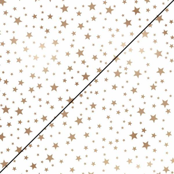 MARPA JANSEN Faltblätter weiß Mini Sterne kupfer 15x15cm 130g 32 Blatt