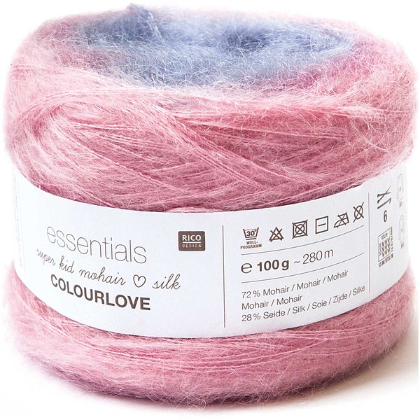 Rico Design Essentials Super Kid Mohair Loves Silk Colourlove 100g 265m