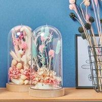 Anleitung Dekohauben mit Trockenblumen gestalten