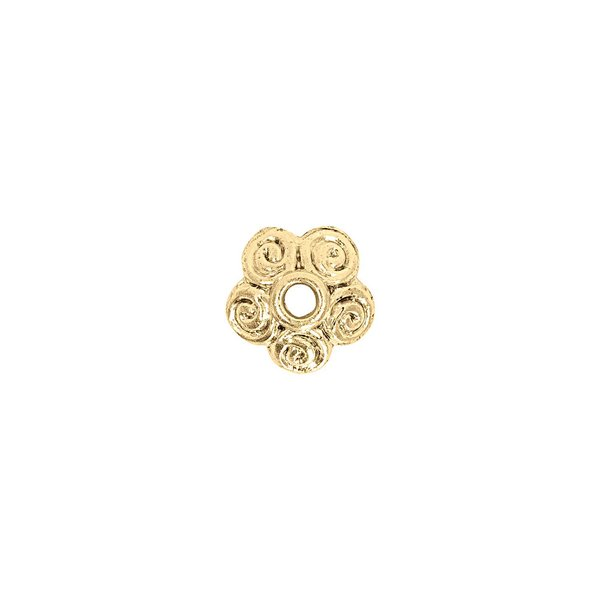 Jewellery Made by Me Perlkappe Kringel gold 10x4mm 2 Stück