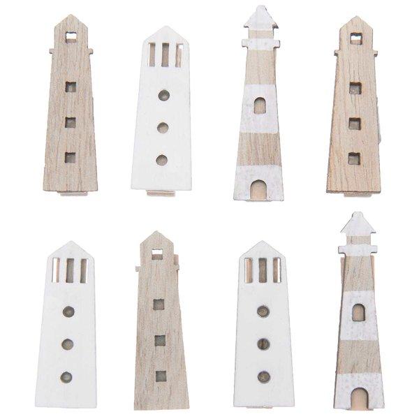Ohhh! Lovely! Dekoklammern Leuchtturm Mix natur 7x35mm 8 Stück