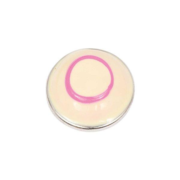 Rico Design Knopf Kreis gelb-pink 14mm