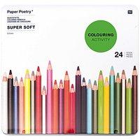 Paper Poetry Buntstifte Super Soft im Metalletui 24 Stück