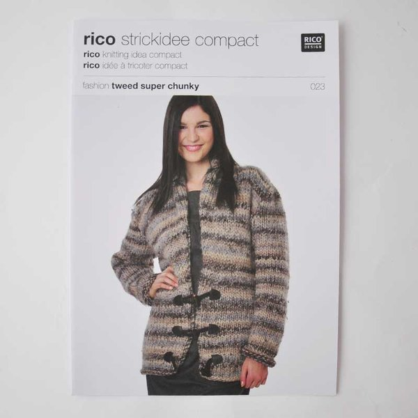 Rico Design Strickidee compact Nr.23 fashion tweed super chunky