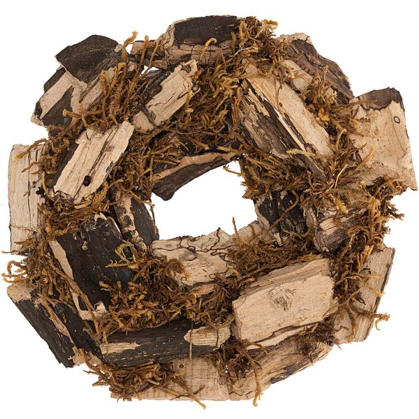 Kranz Holz und Moos natur Ø18cm