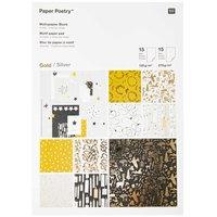 Paper Poetry Motivpapier Nostalgic Christmas schwarz-gold 30 Blatt