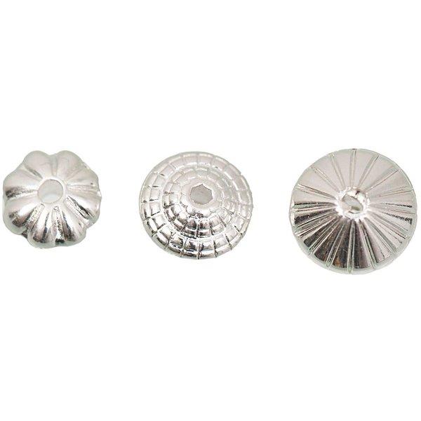 Jewellery Made by Me Perle silber 3 versch. Designs 15 Stück