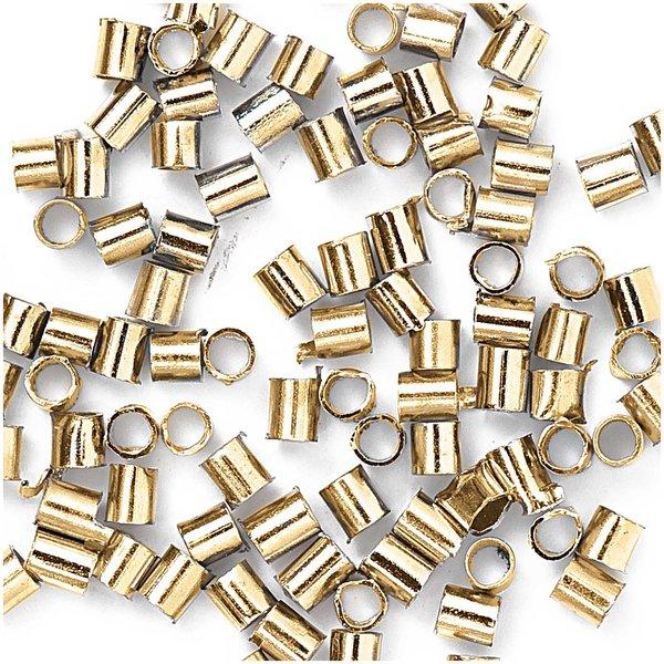 Jewellery Made by Me Röhrchen zum Quetschen gold 1,2mm 200 Stück