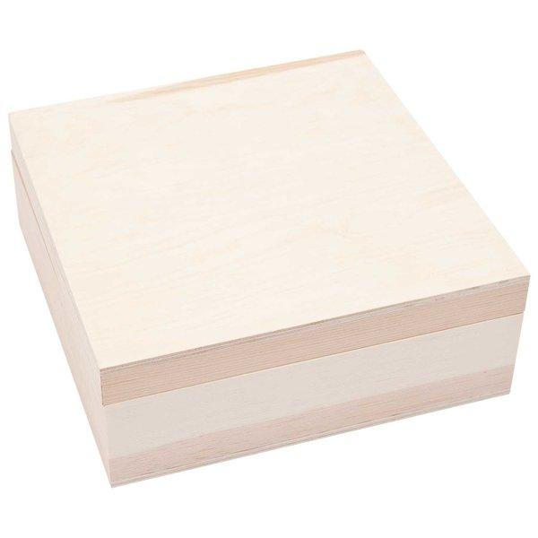 Rico Design Holzdose quadratisch 12x12x4,5cm