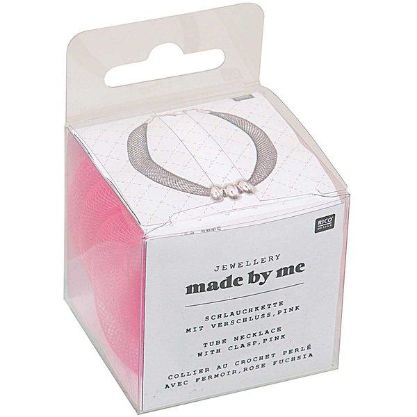 Jewellery Made by Me Schlauchkette pink mit Verschluss 10mm 1m