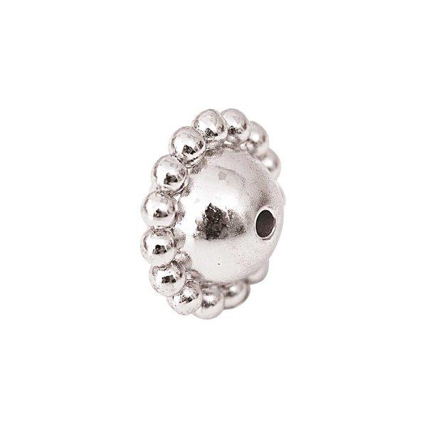 Jewellery Made by Me Metallperle Ufo silber 14x9mm 5 Stück