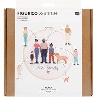 Rico Design Figurico Stickpackung Family 20cm