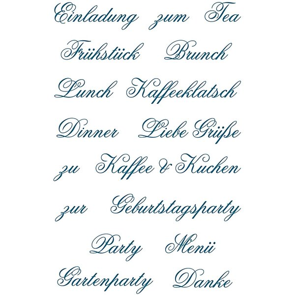 Paper Poetry Silikonstempel Party 17 Motive