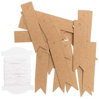 Paper Poetry Papieranhänger L Kraftpapier lang 24 Stück