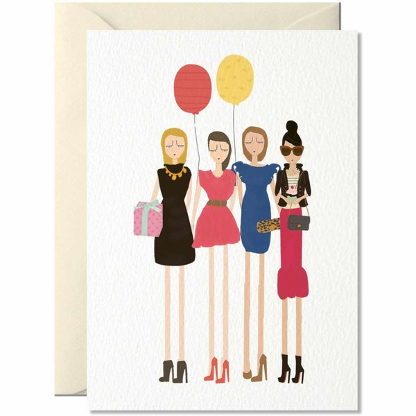 Nelly Castro Grußkarte Girls Girls Girls 14,8x10,5cm
