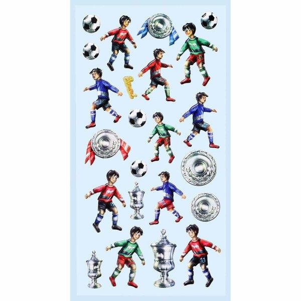 HobbyFun SoftySticker Fußballer II 17,5x9cm