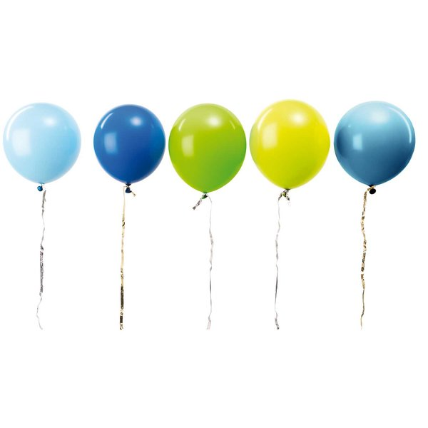 YEY! Let's Party Luftballon Mix aqua 30cm 12 Stück