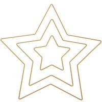 Rico Design Metallring Stern gold