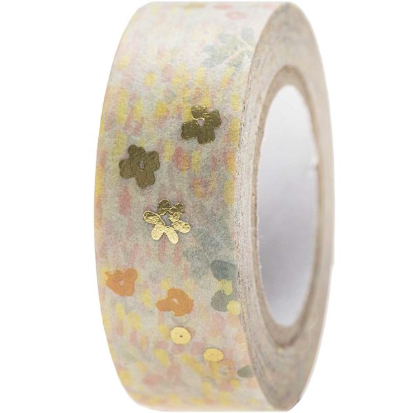 Paper Poetry Tape Crafted Nature Blumenwiese blau 1,5cm 10m