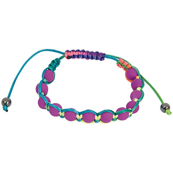 Rico Design Makrameearmband lila-mehrfarbig 17-26cm