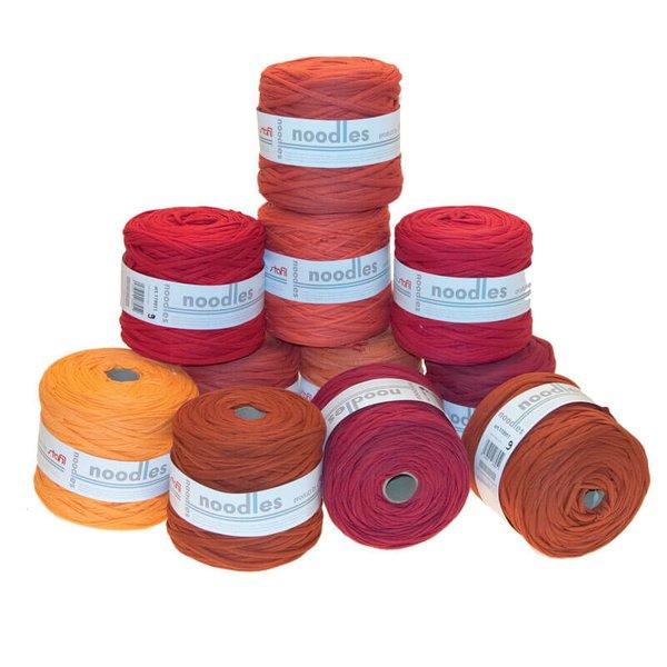 noodles Textilgarn Rottöne ca. 500-700g