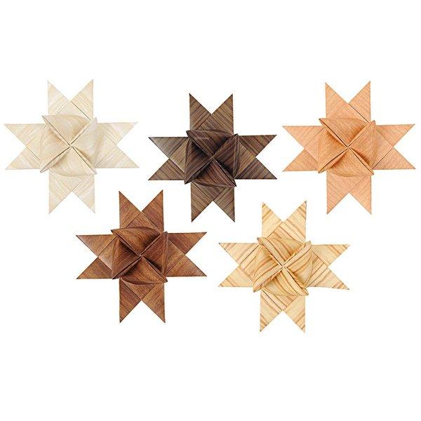 Rico Design Fröbelstreifen XL Holz Mix 40 Stück