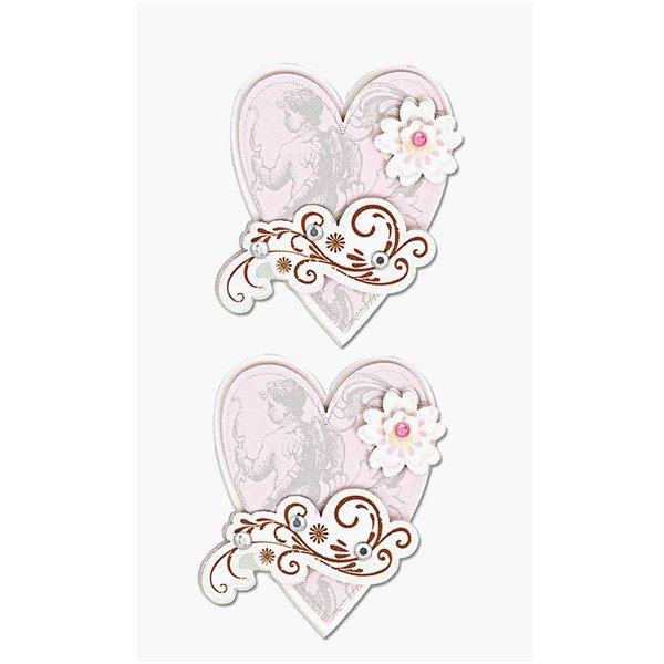 Paper Poetry 3D Sticker Herzen mit Schnörkel