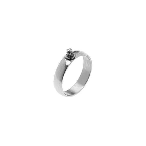 Rico Design Ring schmal 18mm Schraubgewinde silber