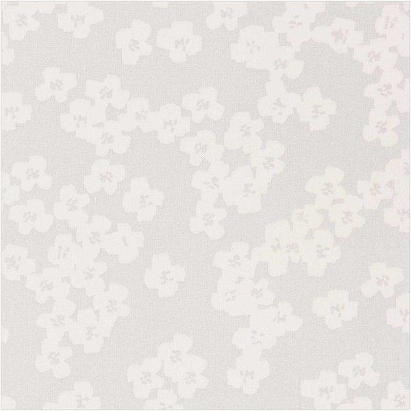 Rico Design Druckstoff Okina Hana Blumen grau-hellgrau 50x140cm