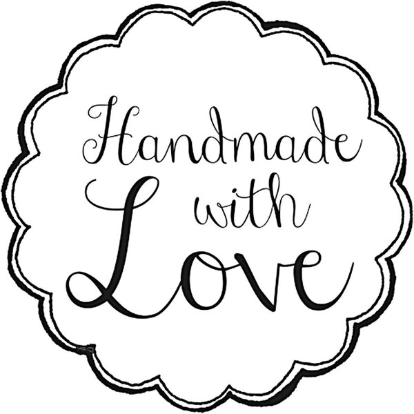 Rico Design Stempel rund handmade with love 3,5cm