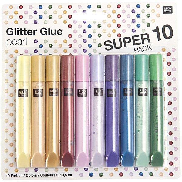 Rico Design Glitter Glue pearl 10x10,5ml