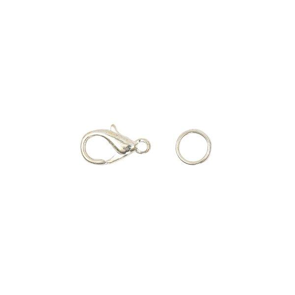 Jewellery Made by Me Karabiner mit 2 Federringen silber 10mm