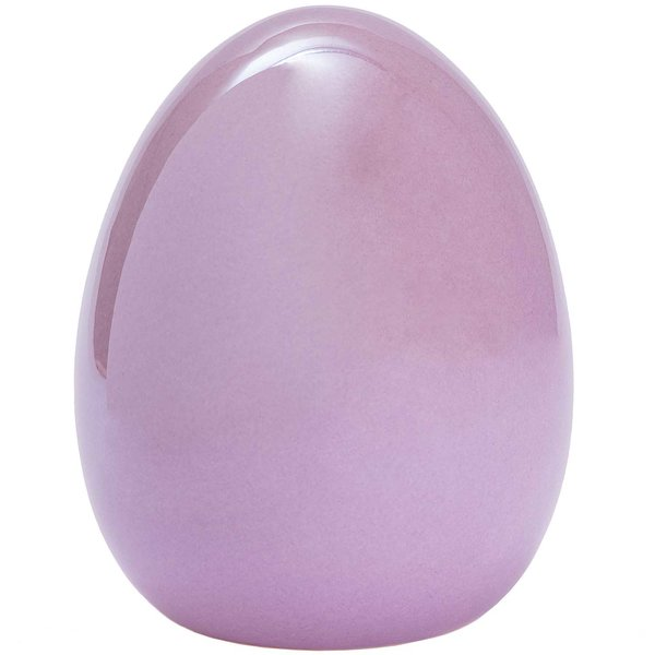 Ei Keramik pearl flieder 13x11cm