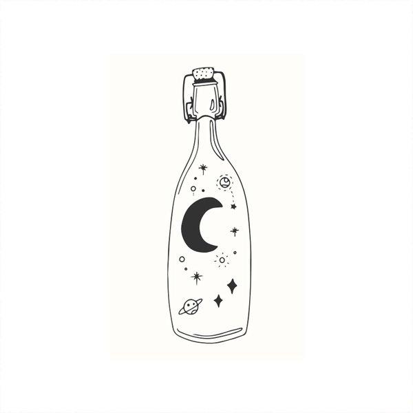 May&Berry Stempel Flasche weiß 35x55mm
