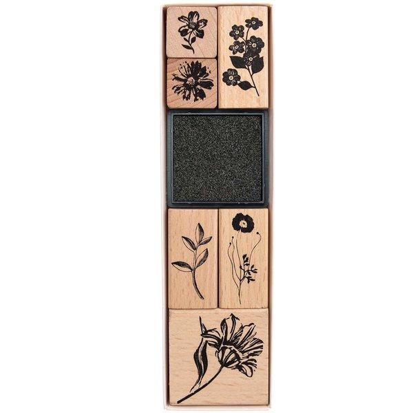 Paper Poetry Stempelset Blumen 6 Stempel