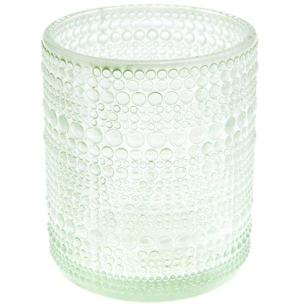 Teelichthalter aus Glas grün 8,5x8,5cm