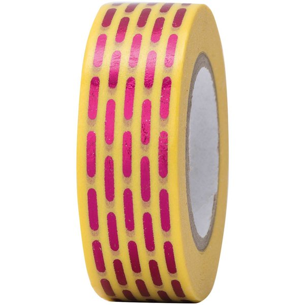 Paper Poetry Tape gestrichelt pink 15mm 10m Hot Foil