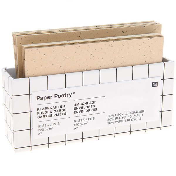 Paper Poetry Kartenset cappuccino C7/A7 20teilig