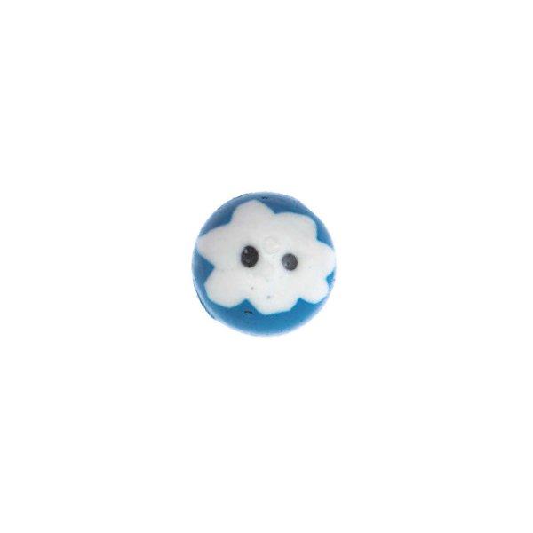 Jewellery Made by Me Glaskugel Augen weiß-blau 12x8mm 10 Stück
